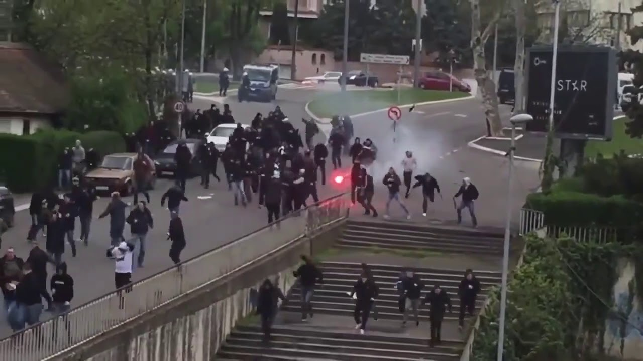 ultras de  u00c9toile rouge vs ultras de partizan