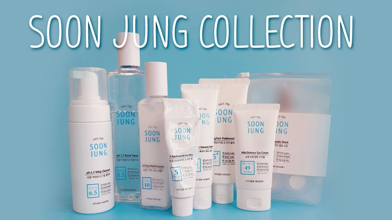 Etude House Soon Jung Review Entire Collection Youtube