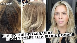 Behind the Instagram #3 - How to Go From This Sombre to a Blonde Balayage
