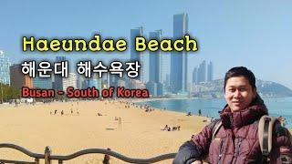 HAEUNDAE BEACH BUSAN is Beautiful Island at South of Korea || Keindahan Pantai Haeundae