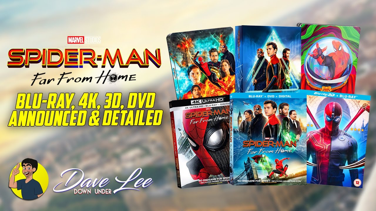 Spider Man Far From Home Blu Ray 4k 3d Dvd Announced Detailed Youtube