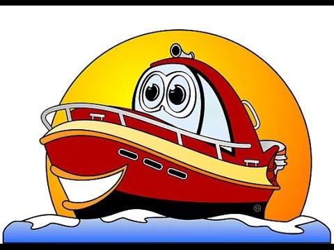 Dibujos animados de barcos para ni os youtube - Imagenes de barcos infantiles ...