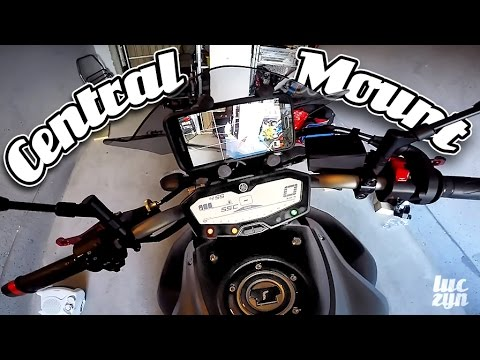 Yamaha Mt 07 Fz 07 Custom Central Mount Ram X Grip