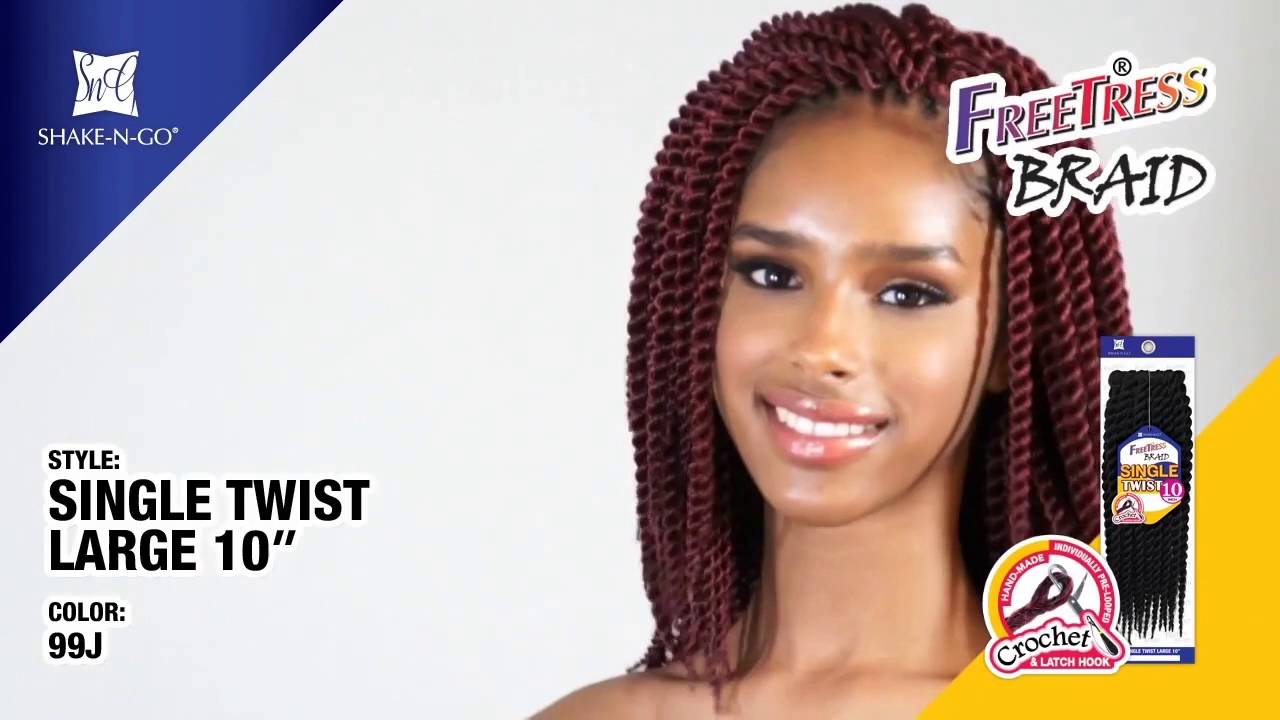 Freetress Synthetic Braid Single Twist Large 10 Wigtypes