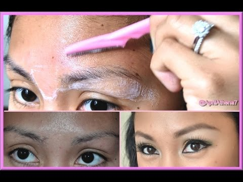 HOW TO USE A BROW RAZOR to ARCH, GROOM, SHAPE EYEBROWS ...