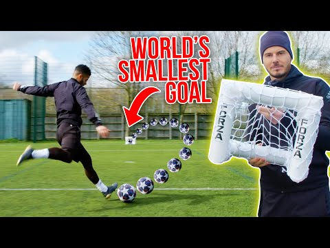 TRYING TO SCORE IN THE WORLD'S SMALLEST GOAL  🥅 Thumbnail