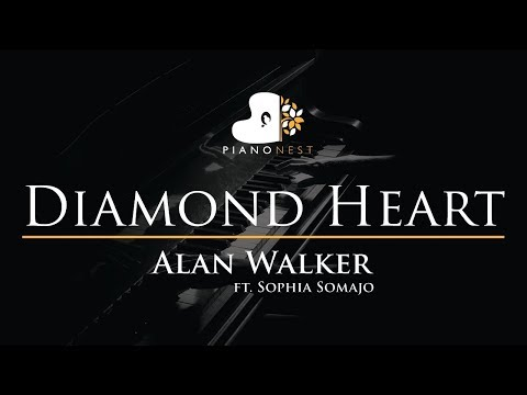 alan-walker---diamond-heart-(feat.-sophia-somajo)---piano-karaoke-/-sing-along-cover-with-lyrics