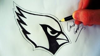 Como Desenhar a logo Arizona Cardinals [NFL] - (How to Draw Arizona Cardinals logo) - NFL LOGOS #2