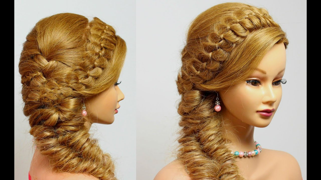 Hairstyles For Long Hair Tutorial 4 Strand With Fishtail