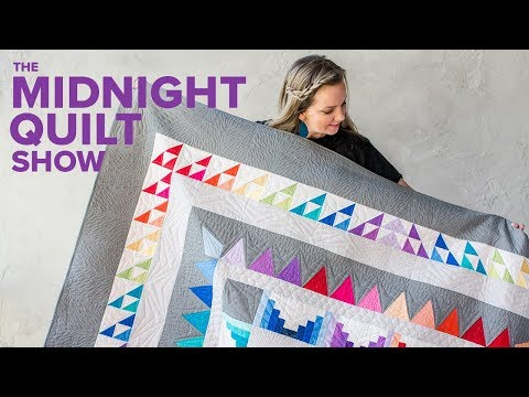 """""""Frequency"""" Rainbow Star Quilt 