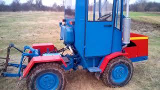 Самодельный трактор Т- 65 4*4 часть #2