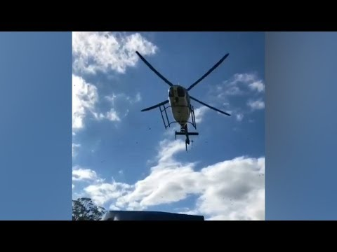 Police helicopter wreaks havoc at Penn State tailgate party