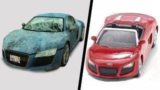 Restoration supercar old | Restore and repair abandoned toy car rusty #2
