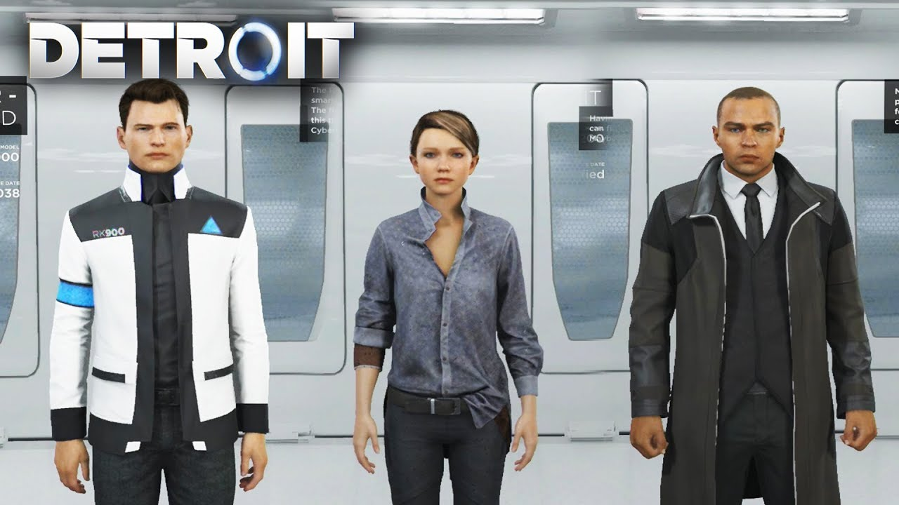 All Skins and Outfits (Connor/Kara/Markus) - DETROIT BECOME HUMAN