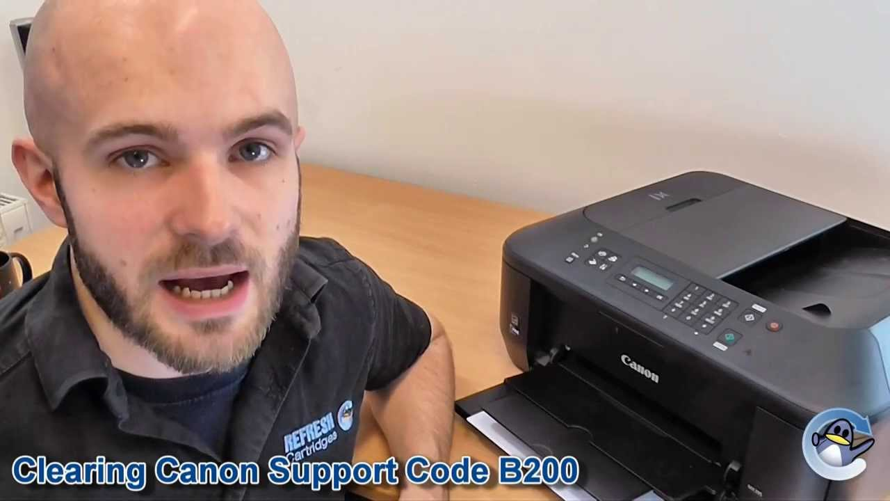 how to fix canon pixma support code b200 error message [ 1280 x 720 Pixel ]