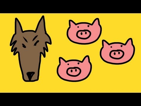 Three little pigs song for children (3 little pigs)