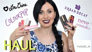 Haul Makeup Lime Crime, ColourPop, Nabla, Urban Decay, Neve Cosmetics, Gerard Cosmetics