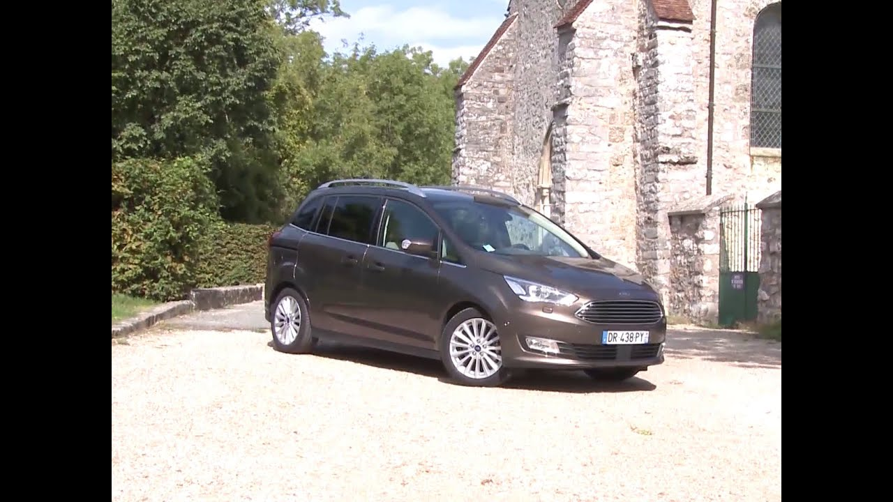 essai ford grand c max 2 0 tdci 150 powershift titanium 2015 youtube. Black Bedroom Furniture Sets. Home Design Ideas