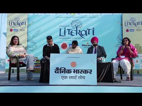 Jaani   Shamsher Sandhu   Charan Likhari  And Masha Kaur At Literati 2018