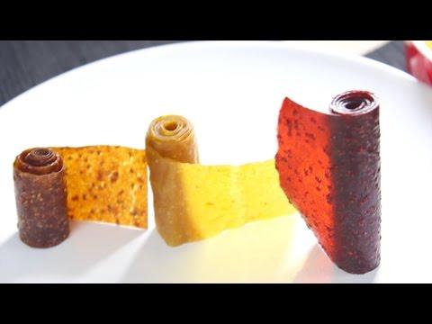 Homenade Naturally FRUIT ROLL UPS - ROLLOS DE FRUTA hechos en casa - Pincactuss