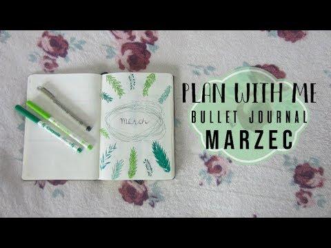 PLAN WITH ME: MARZEC!   BULLET JOURNAL   CLAU