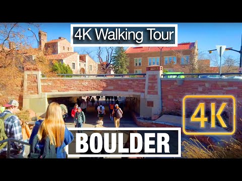 4K City Walks: Boulder, Colorado -Colorado University Tour - Virtual Walk Treadmill City Guide
