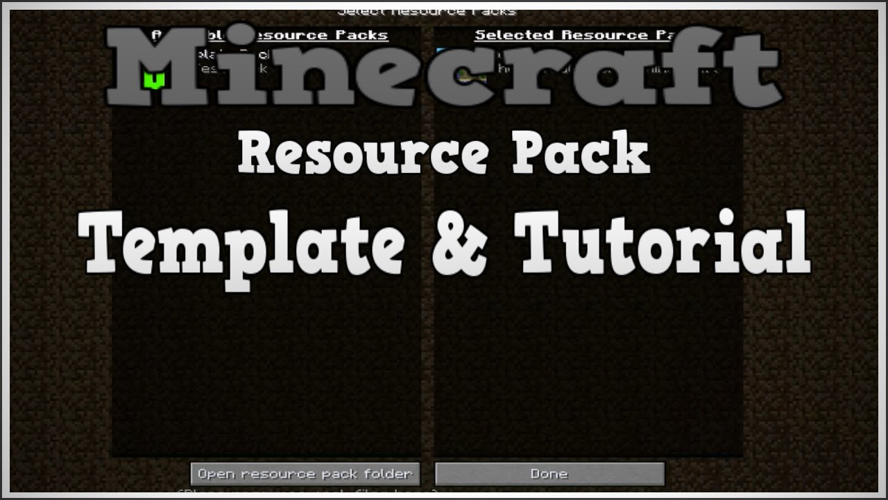 Minecraft Texture Pack Template from i.ytimg.com