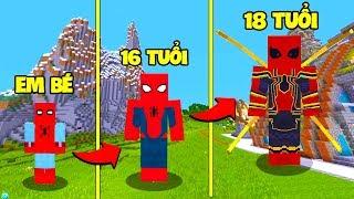 NẾU SPIDER MAN NGƯỜI NHỆN CÓ CUỘC SỐNG TRONG MINECRAFT (Oops Blazz Minecraft)