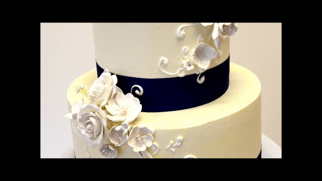 Buttercream Wedding Cake Ideas   YouTube