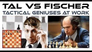 Tal vs Fischer ! Tactical Geniuses At Work Round 20 Belgrade Candidates 1959
