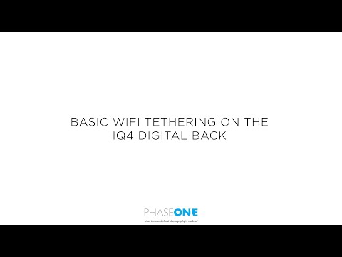 Support | Basic Wifi tethering on the IQ4 | Phase One