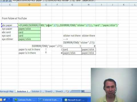 Mr Excel & excelisfun Trick 18: IF function with FIND SEARCH AND OR ISERROR & ISNUMBER functions