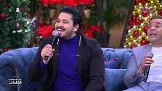 مصطفى حجاج لما يغني لـ أم كلثوم مع الأستاذ مدحت صالح مع منى الشاذلي