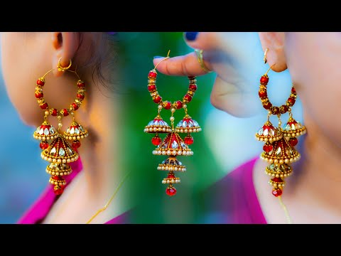 Make beautiful Paper Hoop Earrings | handmade jewelry | made out of paper | Art with Creativity