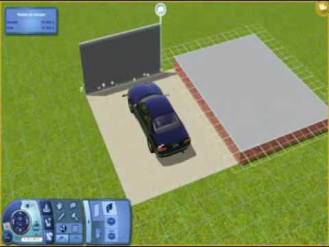 tuto sims 3 garage accoler a une maison sur fondation youtube. Black Bedroom Furniture Sets. Home Design Ideas