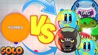 Agar.io PUMBA Vs CLAN ??G / SOLO Vs TEAMS