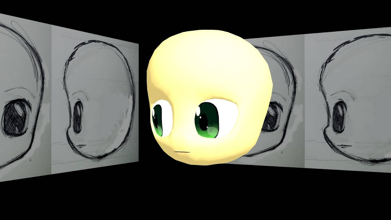 3ds max chibi head model eye test 1 youtube for 3ds max face modeling