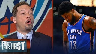 Chris Broussard on Paul George leaving OKC for Philly after Game 4 loss to Jazz | FIRST THINGS FIRST