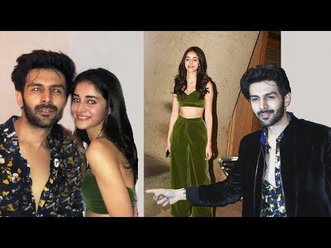 Pati Patni Aur Woh Star Ananya Pandey And Kartik Aaryan At Punit Malhotra's Bash Mp3