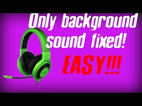 How to Fix Headphones only playing Background Sound - Easy Fix