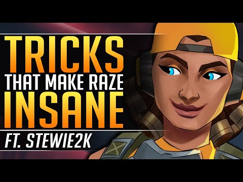 INCREDIBLE RAZE Tricks EVERYONE Must Know - PRO Tips By STEWIE2K - Valorant Gameplay Guide