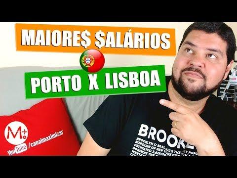 TRABALHO em PORTUGAL: PORTO ou LISBOA? SALÁRIOS e TENDÊNCIAS (2018) | Canal Maximizar