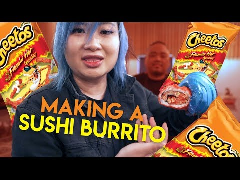 Making Hot Cheetos Sushi Burrito