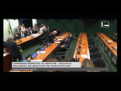 PL 6670/16 - POLÍTICA NACIONAL REDUÇÃO AGROTÓXICOS - Reunião de Eleição - 23/05/2018 - 12:50