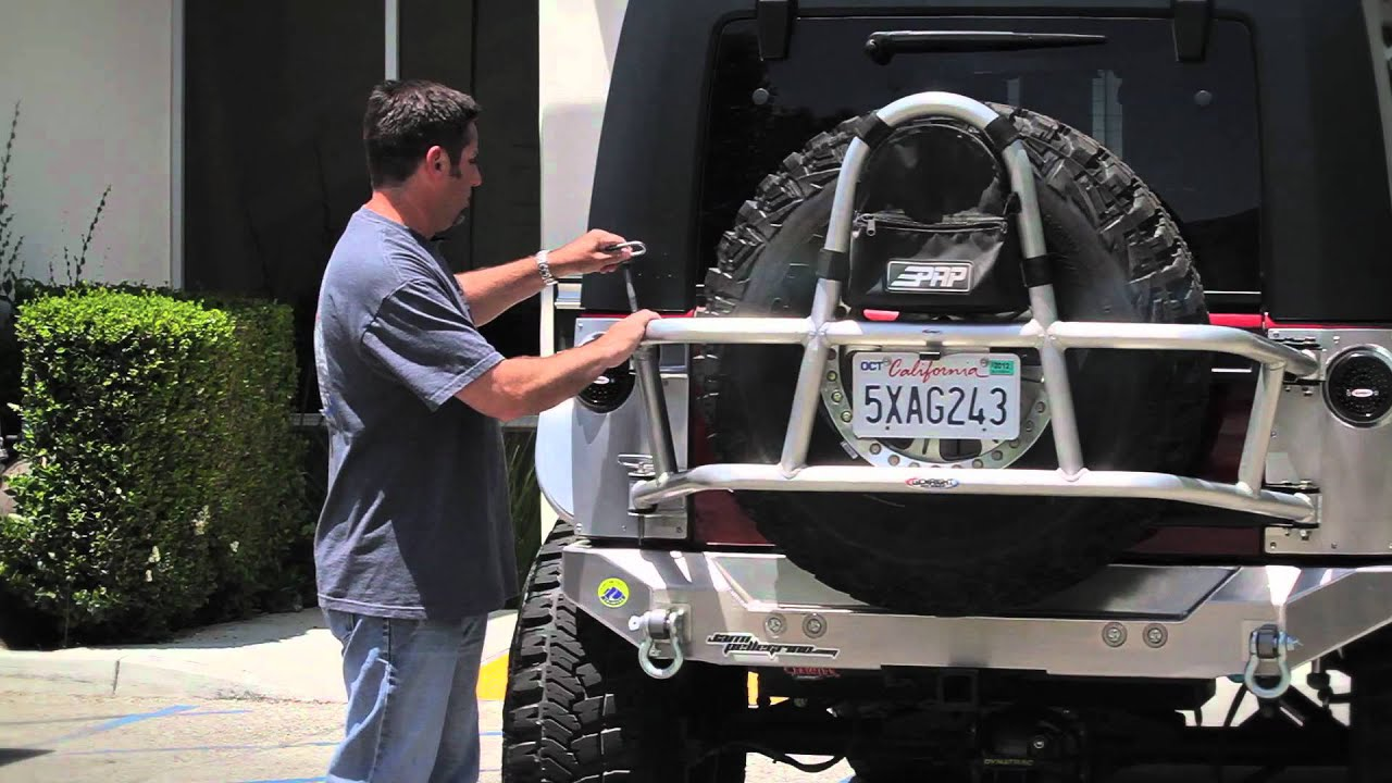 Genright Jk Swing Out Tire Carrier Youtube