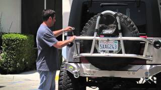 Genright Jk Swing Out Tire Carrier