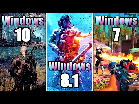 Windows 10 Vs Windows 8.1 Vs Windows 7 In PC Gameplay In 2020