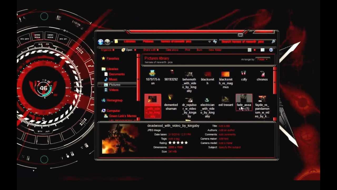 Ultimate alienware windows 10 theme.