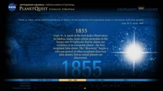 Exoplanet Exploration: PlanetQuest Historic Timeline
