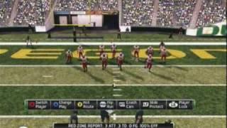 NCAA 11 College Football Oregon Ducks Gameplay (Xbox 360)